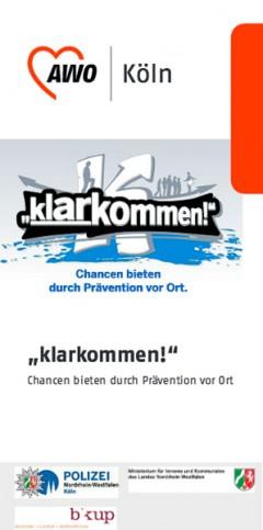 Flyer: klarkommen! Chancen bieten durch Prävention vor Ort