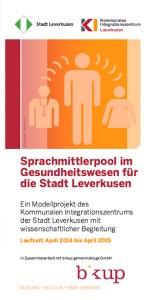 Sprachmittlerpool im Gesundheitswesen für die Stadt Leverkusen