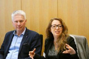 Wolfgang Wendelmann, Erster Kriminalhauptkommissar, Ministerium des Innern NRW und Varinia Fernanda Morales, Geschäftsführerin der bikup gGmbH